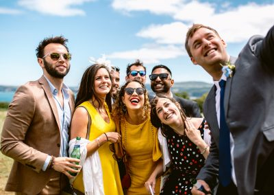 wedding guests posing for the photo best of 2017