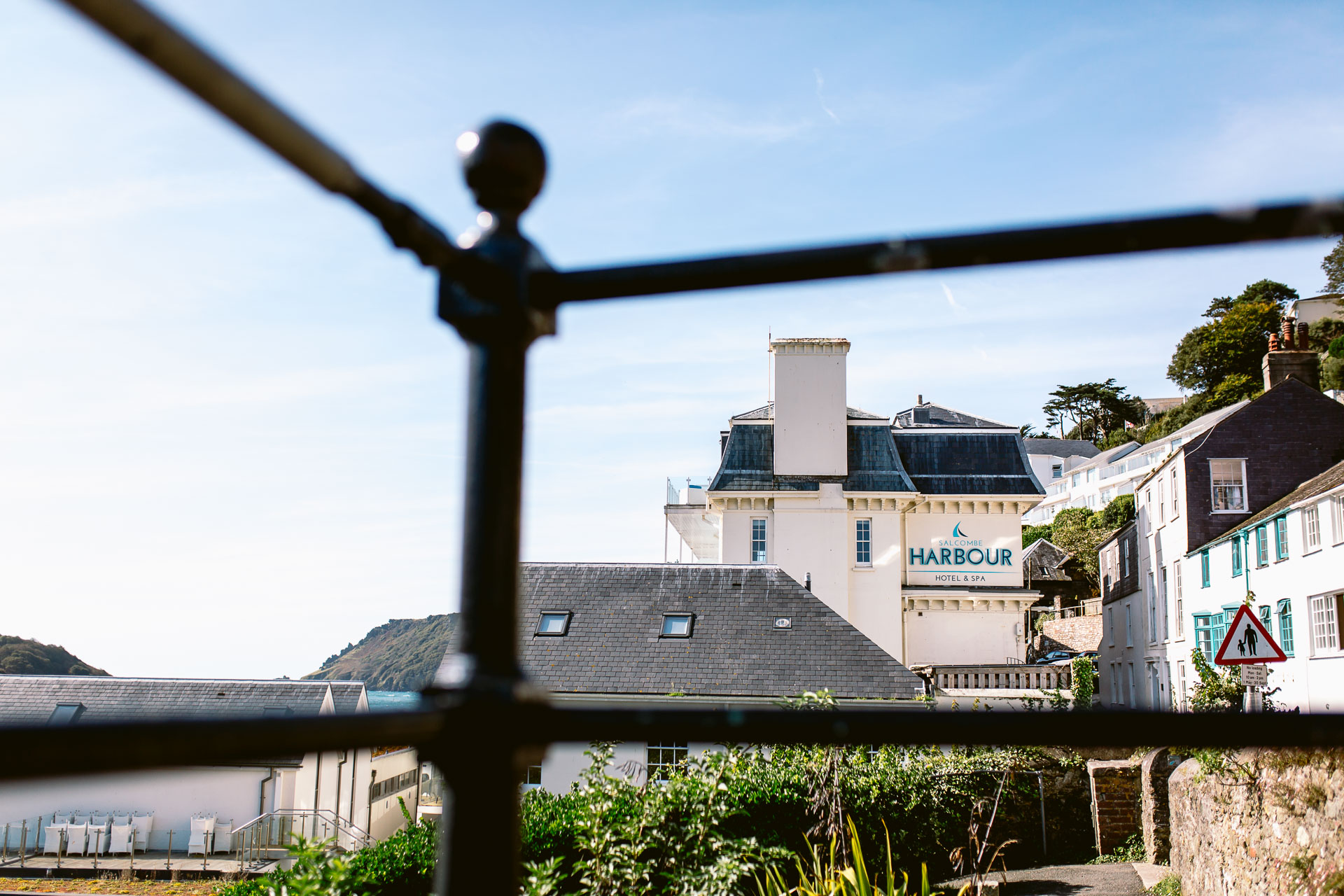 view of the hotel venue in Salcombe harbour hotel wedding