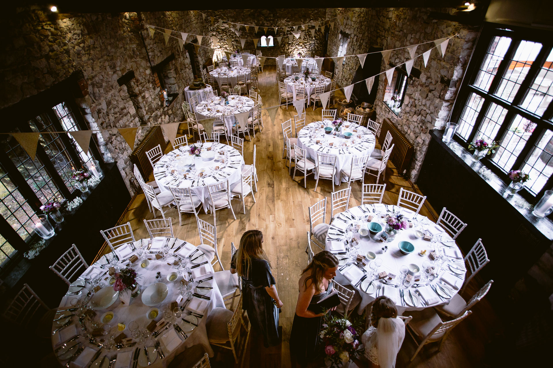 wedding room view form upstairs in Pencoed House
